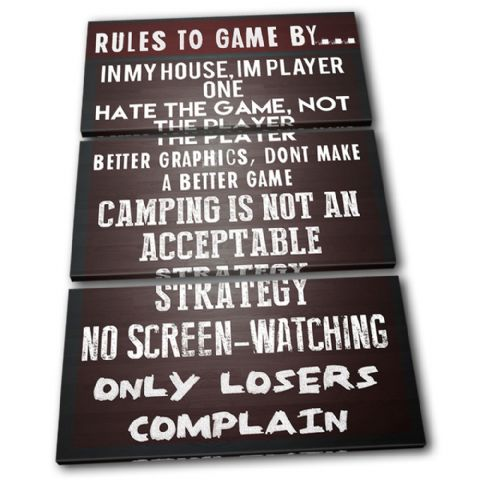 Gaming COD House Rules Typography - 13-2365(00B)-TR32-PO